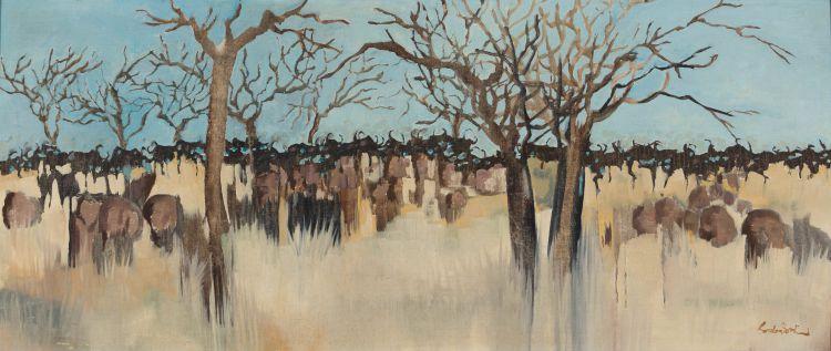 Gordon Vorster; Herd of Wildebeest