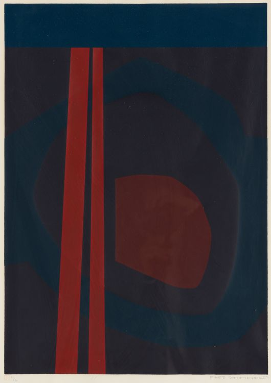Fred Schimmel; Abstract in Red and Purple