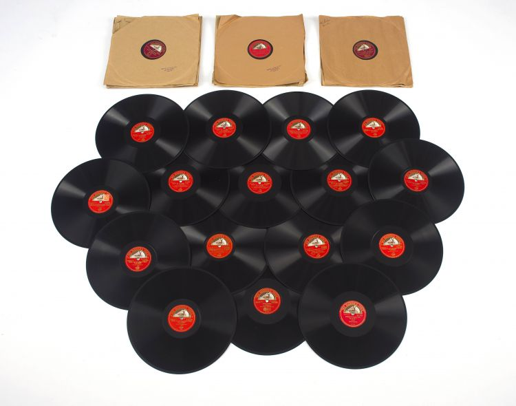 A Quantity of His Master's Voice gramophone records