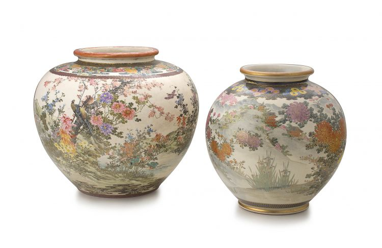 A Japanese earthenware vase, early 20th century