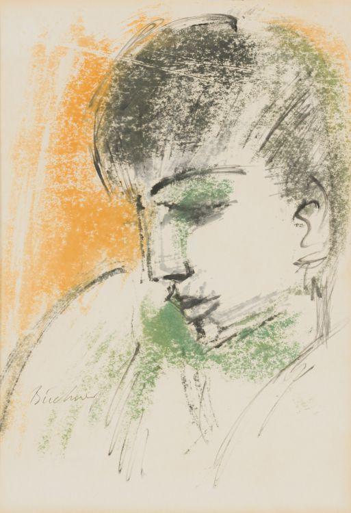Carl Büchner; Portrait of a Boy