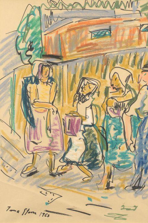 Irma Stern; Figures in a Street