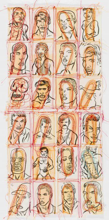 Conrad Botes; Untitled (Male Portraits I)