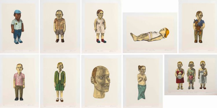 Claudette Schreuders; Ten Lithographs (Officer Molete, The Neighbour, New Shoes, The Long Day, 1970, The Quiet Brother, The Missing Person, The Boyfriend, Lady Luck, Three Sisters)