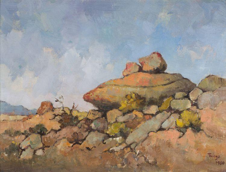 Conrad Theys; Rotsvormasie (sic) - Namakwaland (Rock Formation - Namaqualand)