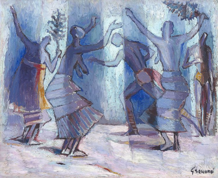 Gerard Sekoto; Dancing Figures, Casamance, Senegal