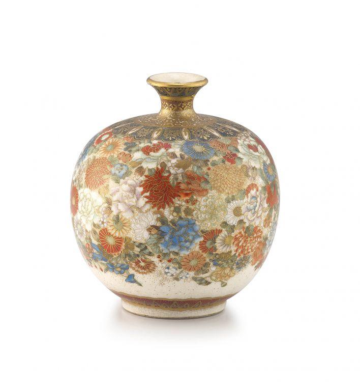 A Japanese Satsuma vase, Meiji period (1868-1912)