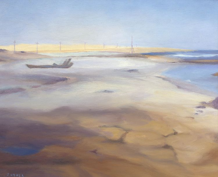Maud Sumner; Boat Wreck on the Beach