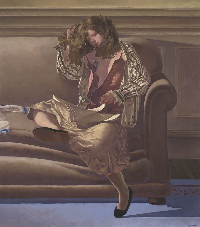 Neil Rodger; Young Girl Reading