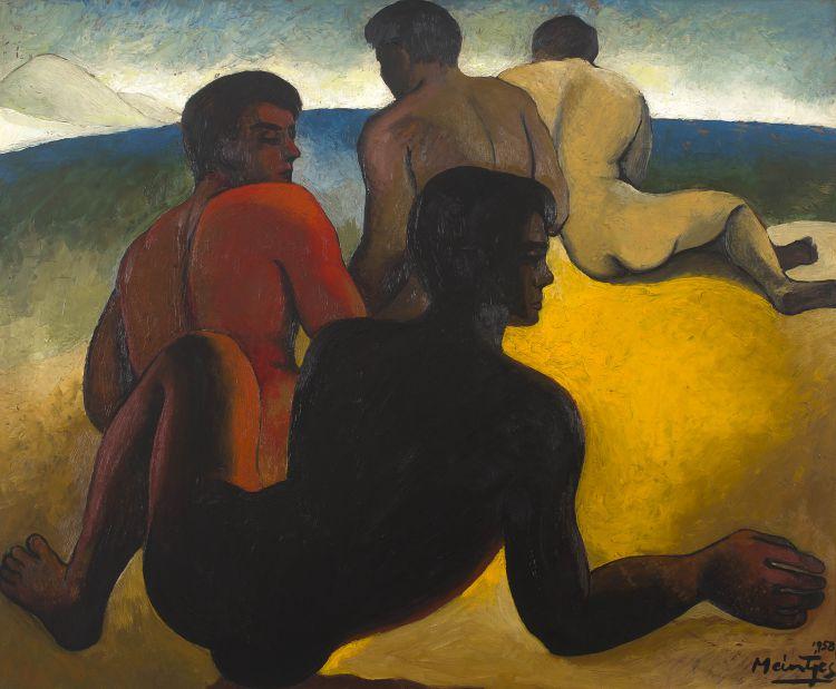 Johannes Meintjes; Figures on a Beach