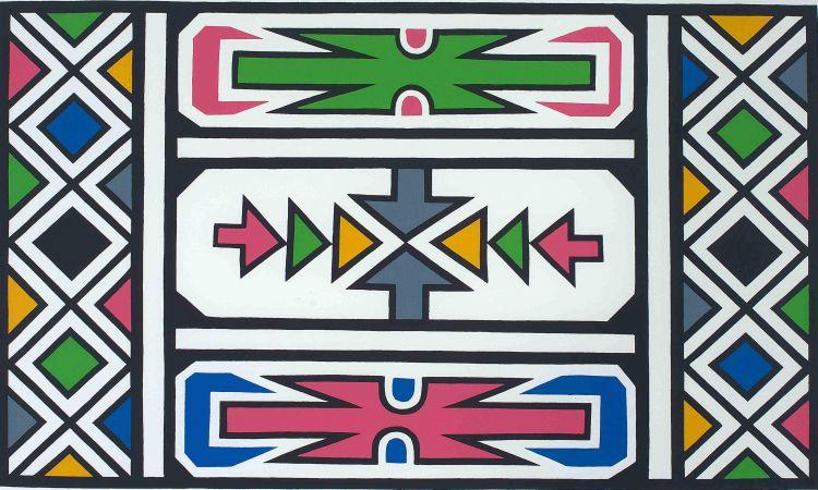 Esther Mahlangu; Ndebele Pattern