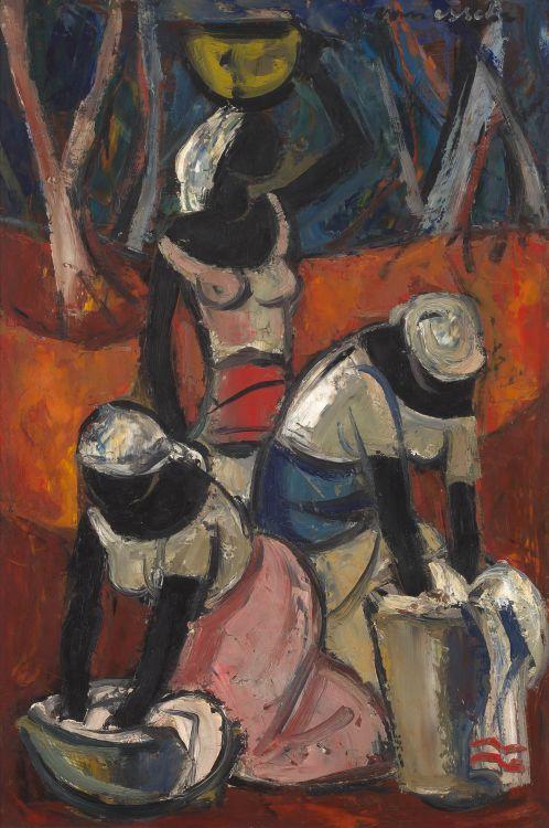 Maurice van Essche; Washerwomen