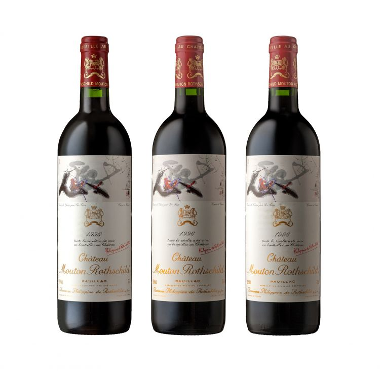 Mouton Rothschild; Pauillac; 1996; 3 (1 x 3); 750ml