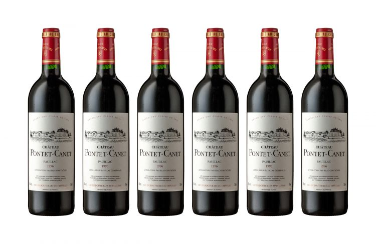 Pontet-Canet; Pauillac; 1996; 6 (1 x 6); 750ml