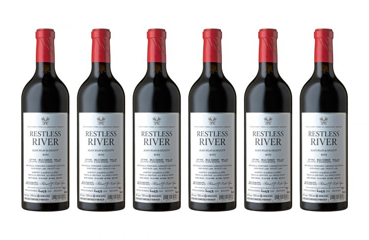 Restless River; Main Rd and Dignity Cabernet Sauvignon; 2013; 12 (2 x 6); 750ml