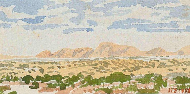 Adolph Jentsch; Mountainous Landscape