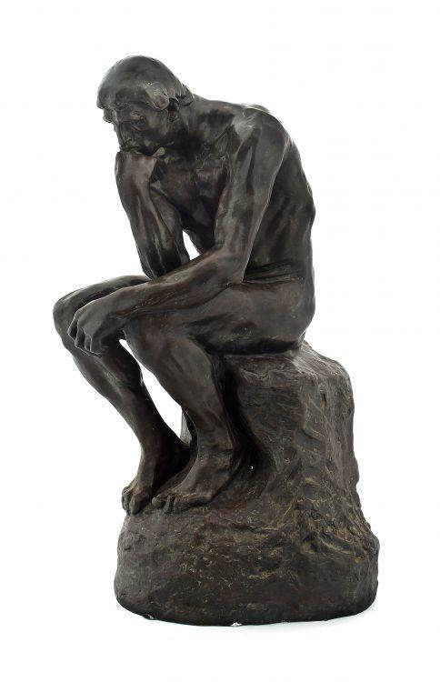 After Auguste Rodin; Le Penseur (The Thinker)
