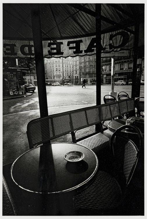 Jeanloup Sieff; Cafe de Flore Paris, 1976
