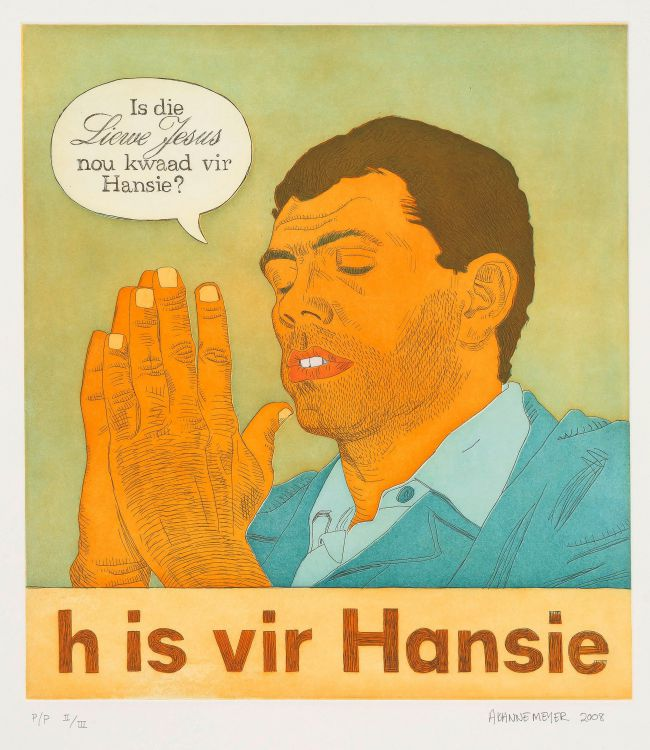 Anton Kannemeyer; h is for Hansie