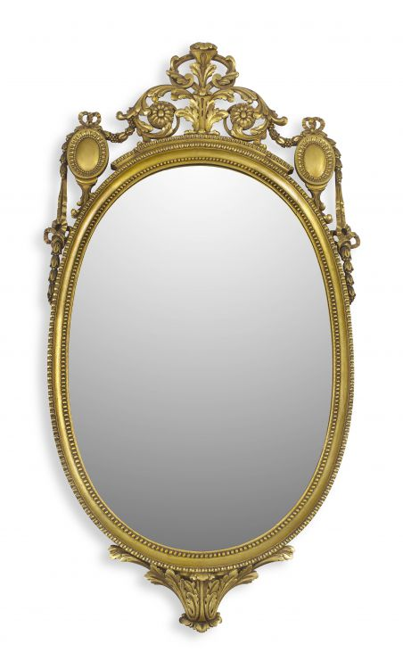 An Edwardian style giltwood mirror, 20th century
