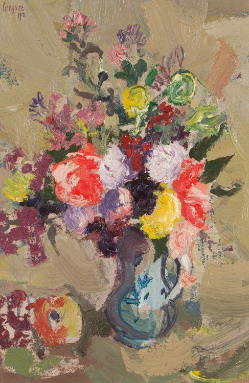 Gregoire Boonzaier; Mixed Flowers (no 23)