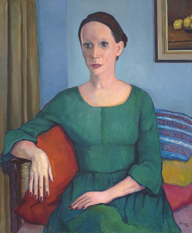 François Krige; Portrait of Paula in a Green Dress