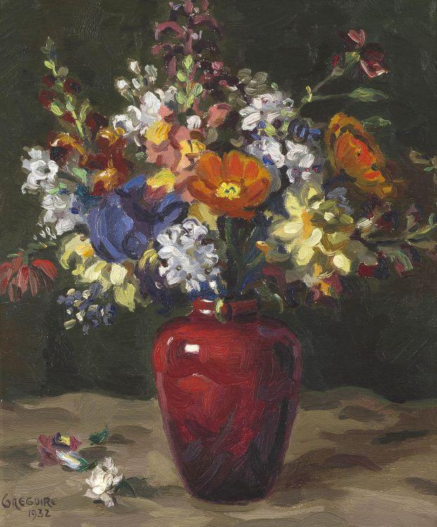 Gregoire Boonzaier; Flowers in a Vase