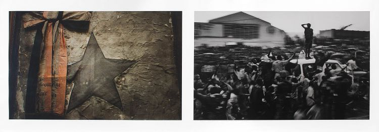 Guy Tillim; Leopold and Mobutu series #12, diptych