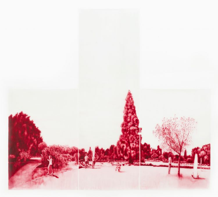 Ruby Swinney; The Arboretum, triptych