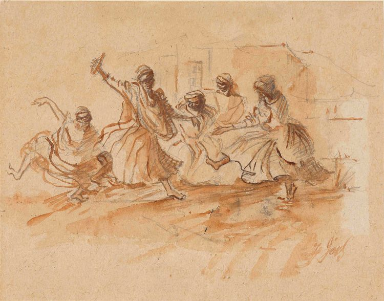 Frederick Timpson I'Ons; Dancing Women Outside a Canteen