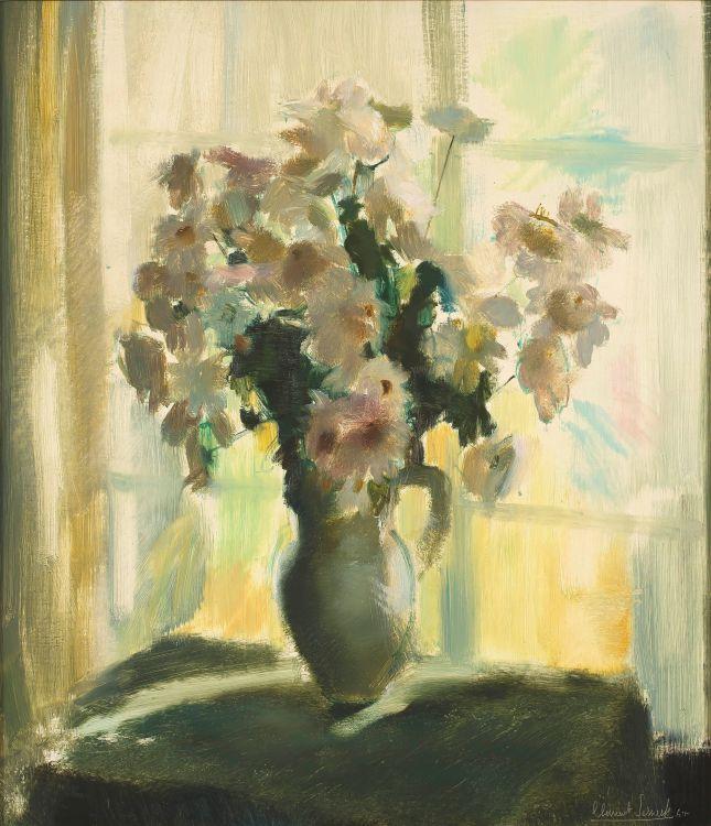 Clement Serneels; Flowers in a Jug