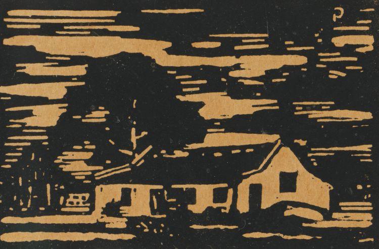 Jacob Hendrik Pierneef; Houses with Trees, Derdepoort (Nilant 46)