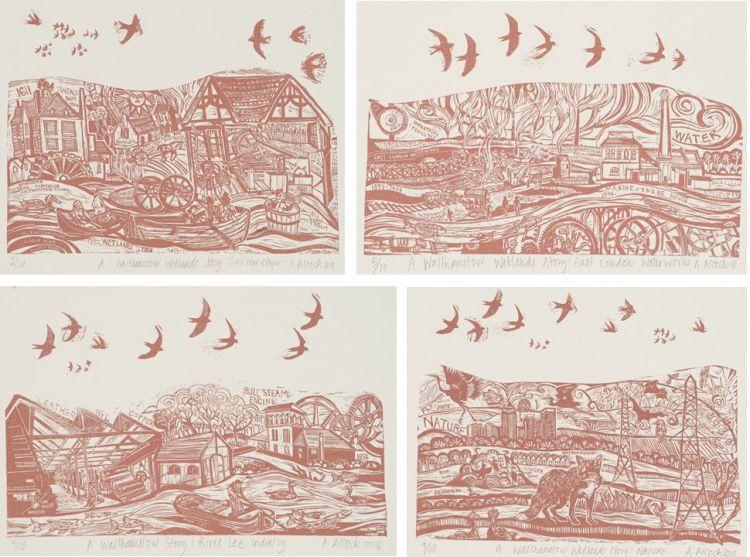 Anna Alcock; A Walthamstow Wetlands Story; four