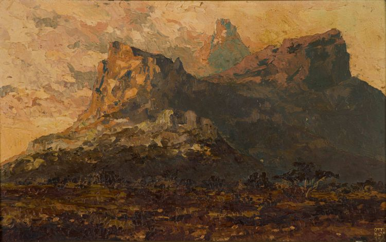 Otto Klar; Mountain Landscape