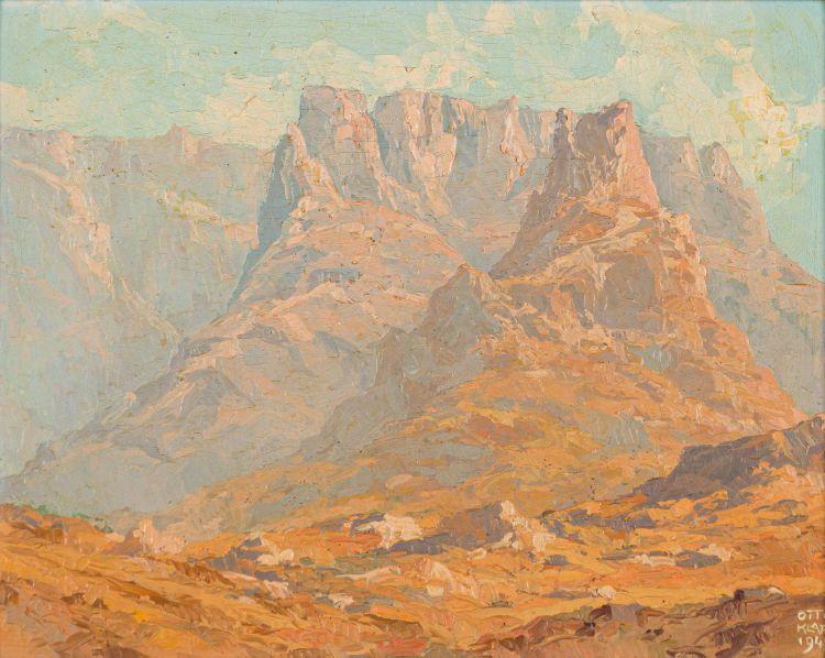 Otto Klar; Mountain Scene