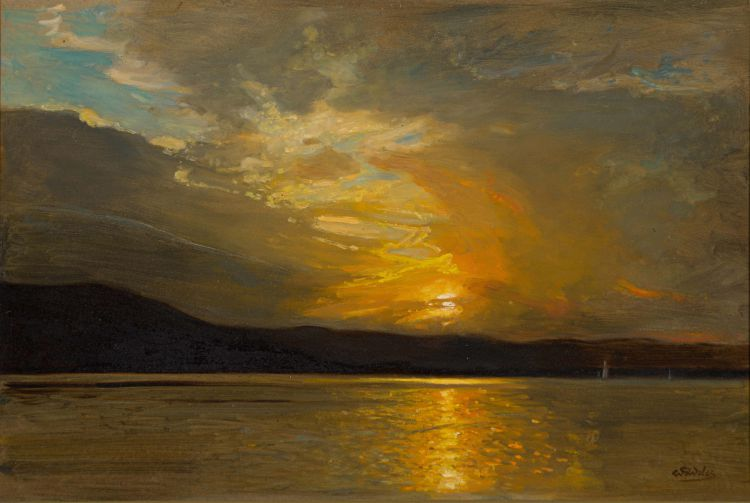 Walter Gilbert Wiles; Sunset over the Water