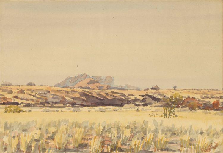 Adolph Jentsch; Landscape, South West Africa
