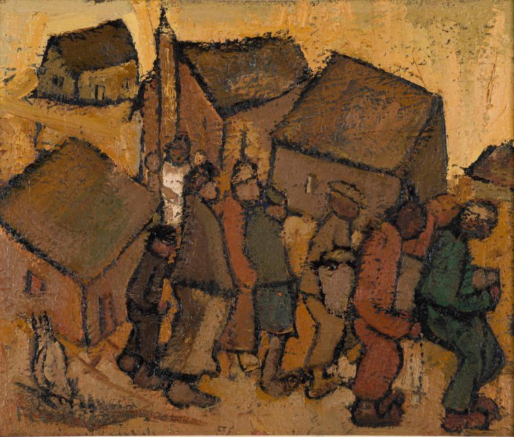 Frans Claerhout; Villagers Working