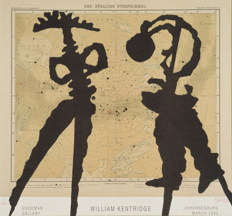 William Kentridge; William Kentridge: Goodman Gallery, Johannesburg, March 2003, poster