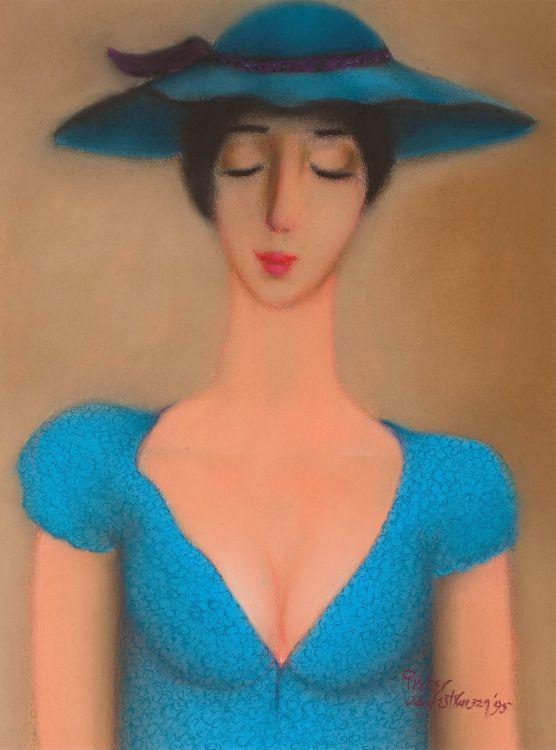 Pieter van der Westhuizen; Woman in Blue