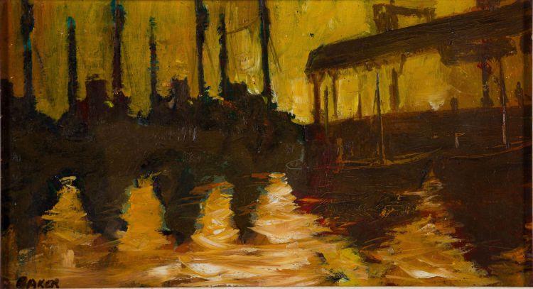 Kenneth Baker; Moored Boats