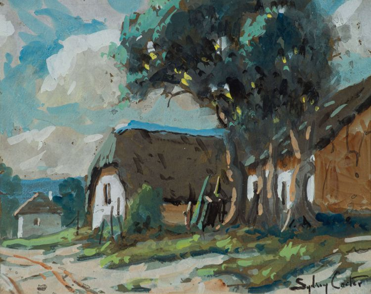 Sydney Carter; Bluegums and Thatched Houses