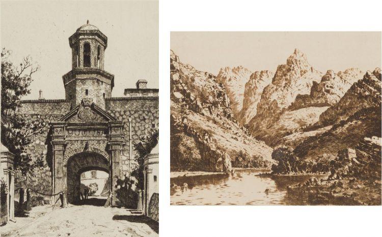Tinus de Jongh; The Castle, Cape Town; Meirings Poort, Oudtshoorn, two