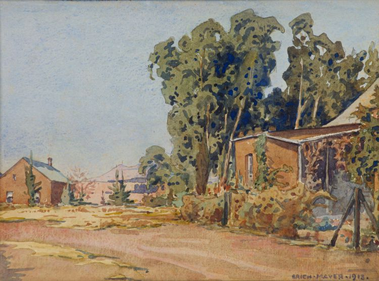 Erich Mayer; Village Houses and Trees