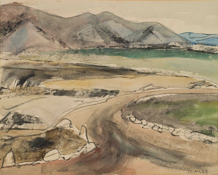 Maud Sumner; Landscape with Dam Wall