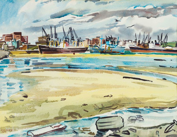 Richard Cheales; Harbour Scene