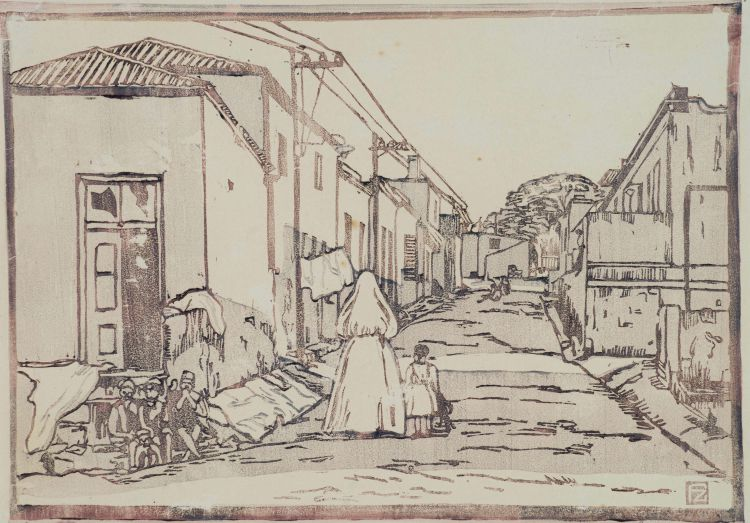 Florence Zerffi; Street in Malay Quarter, Cape Town