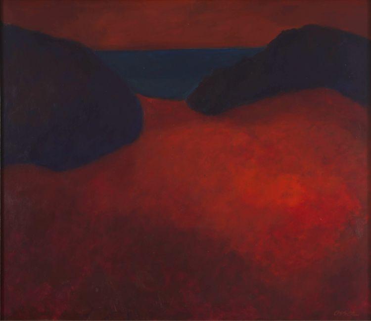 Josef Osser; Red Landscape