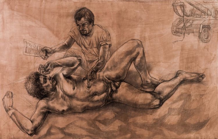 Diane Victor; Tityus Tormented by a Vulture, from the Birth of a Nation Series