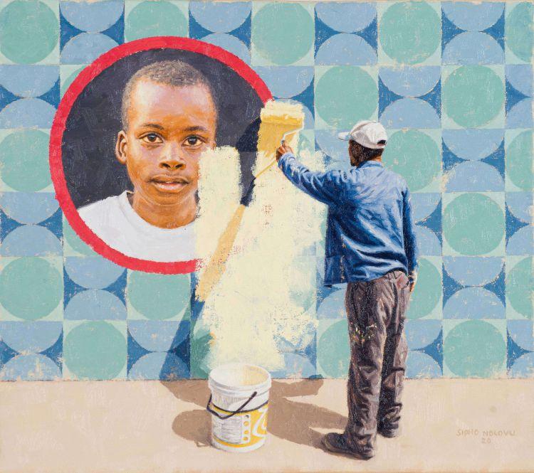 Sipho Ndlovu; Paint Me with a Same Brush